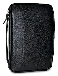 Divinity Boutique Leather Bible Cover Midnight Black, Medium (19554)