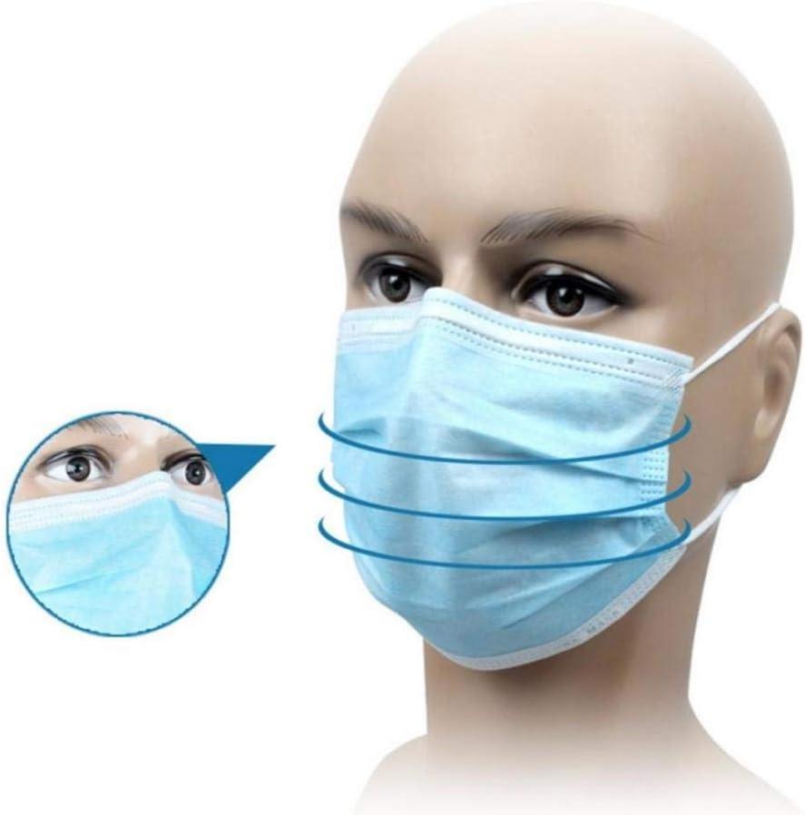 Gesichtsschutzmaterial Einwegschutz gegen Staubverschmutzung Keimgesichtsgesichtssicherheit Wireman Mundschutz-50-tlg