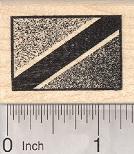 Flag of Tanzania Rubber Stamp