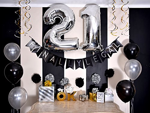 Amazoncom Sterling James Co 21st Birthday Party Pack Black
