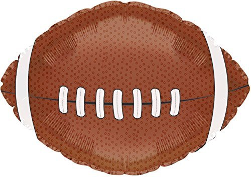 Football Shaped Sports 17 Inch Mylar Balloon Bulk (5 Pack)