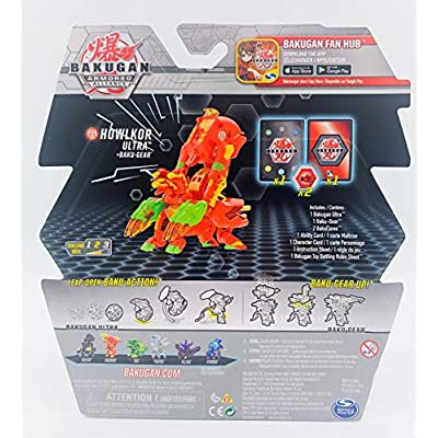 Bakugan Ultra, Pyrus Howlkor with Transforming Baku-Gear, Armored Alliance 3-inch Tall Collectible Action Figure: Toys & Games