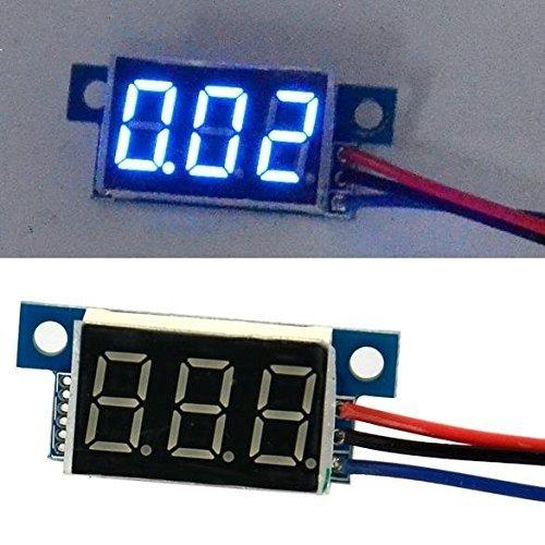 1pcs LED Blue Panel Digital Meter DC Voltmeter 0-30V