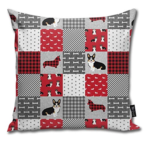 shirt home Tri Corgi Dog - Pet Quilt A Dog, Dogs, Pet Quilt Patchwork Comfortable Soft Bed Pillow Case Household Pillow Case Office Bolster 18x18 Inches