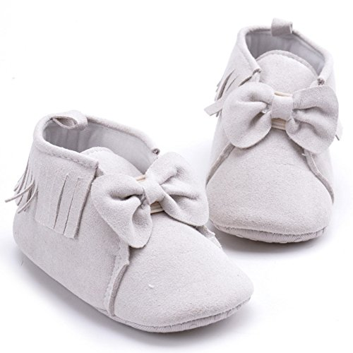leap frogInfant Girl Moccasins Boots - Bota Mocasín Bebé-Niños gris