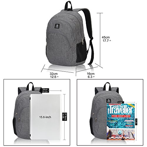 Veegul Cool Backpack Kids Sturdy Schoolbags Back to School Backpack for Boys Girls,Gray