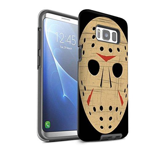 STUFF4 Matte Tough Shock Proof Phone Case for Samsung Galaxy S8/G950 / Jason Vorhees Mask Inspired Design/Horror Movie Art Collection -