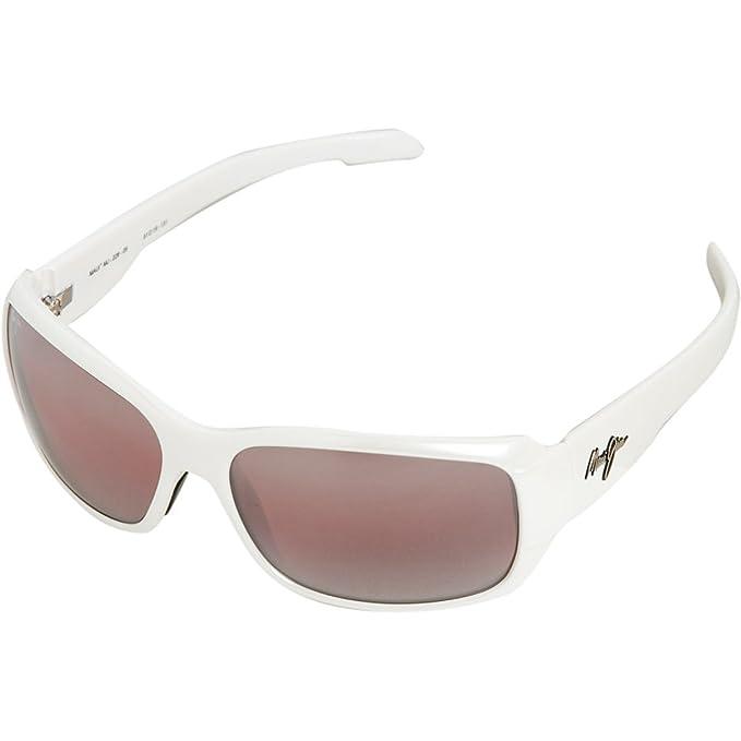 34a36338b032 Maui Jim Hamoa Beach R226-05 Polarized Rectangular Sunglasses,White Pearl  Frame/Maui Rose Lens,One Size: Amazon.ca: Clothing & Accessories