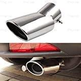 1Pcs Stainless Steel Tailpipe Exhaust Muffler Tail Pipe Tip Custom Fit Toyota Highlander 2012-2016 2017 2018