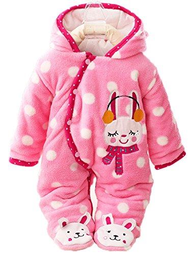 Baby Toddler Winter Oblique Button Open Footies Romper Ho...