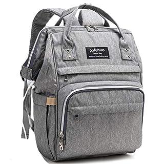 Diaper Bag Backpack, Pofunuo Large Capacity Baby Bag Multifunction Waterproof
