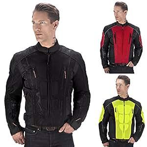 Viking Cycle Warlock Motorcycle Mesh Jacket (Black-XL)