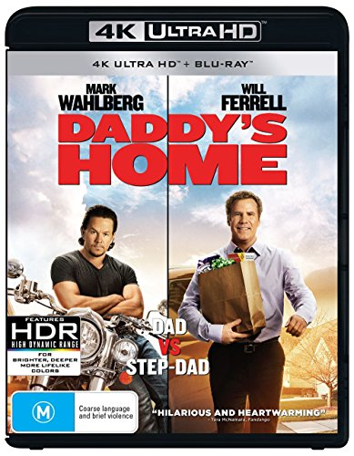 Daddy's Home 4K UHD Blu-ray / Blu-ray   Mark Wahlberg, Will Ferrell   NON-USA Format   Region B Import - - Ambrosio Linda