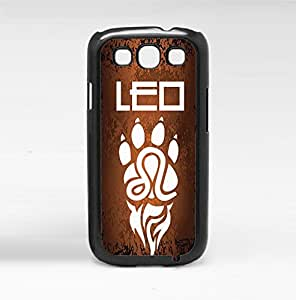 Orange and Black Leo Horoscope with White Paw Hard Snap on Phone Case (Galaxy s3 III) by icecream design