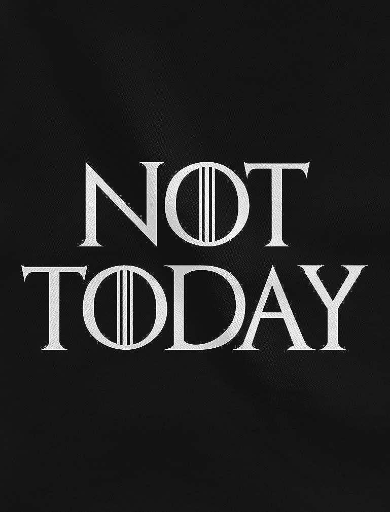 Shirtgeil Not Today Got Stark Trono Non Oggi Felpa con Cappuccio da Donna