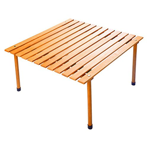 Portable Picnic Table Roll-Up Wooden Camping Table Ultralight with Carrying Case Easy Assembly & Convenient Water-resistant Hardwood Picnics Beach Outdoor Concerts Backyard Parties & eBook by BADAshop by BS