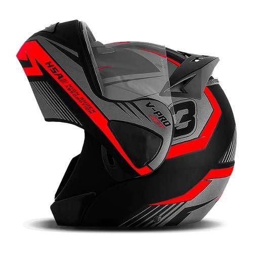 Capacete Escamotiavel Moto Articulado VPro Jet 3 Acessorios Motocicleta