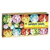 Grasslands Road Round Hibiscus Flower Design Lantern Patio 10 Light Set, 9-Foot