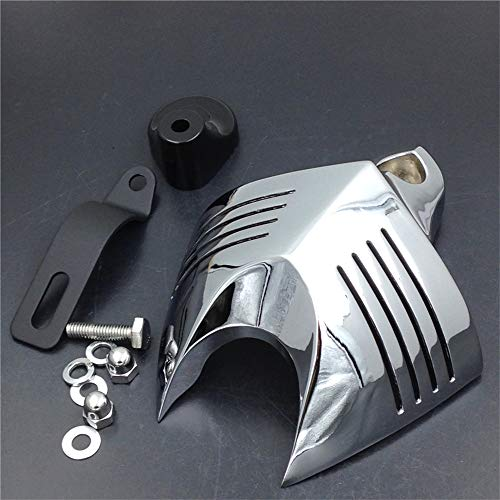 Chrome Horn Cover Fit for Harley Big Twins V-Rods Stock Cowbell Horns - Cover Chrome Horn
