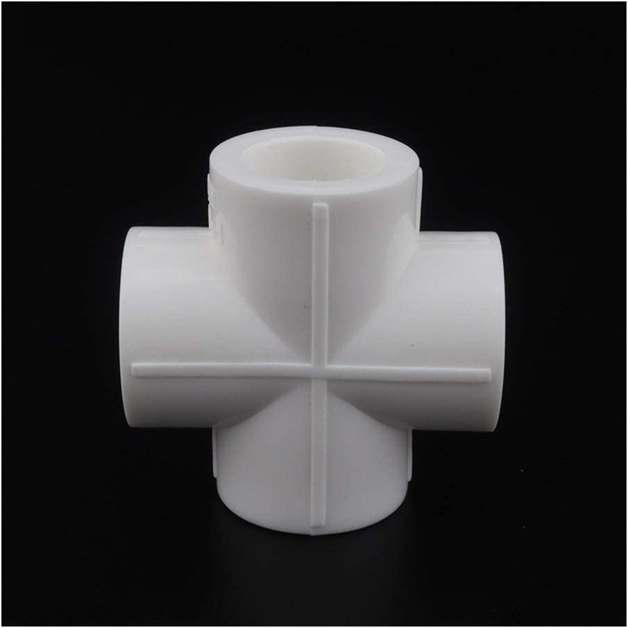 Tubes Pipes /& Hoses 10pcs PPR Cross Connector 20mm 25mm 32mm 40mm Water Pipe Plumbing Fittings PPR Water Pipe Four Ways Adapter Water Tuber Joints Color : White, Diameter : Inner diameter 20mm