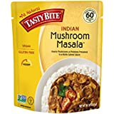 Tasty Bite Indian Entree Mushroom Masala 10 Ounce, Fully Cooked Indian Entrée with Mushrooms & Potatoes in a Richly Spiced Sauce, Vegan, Gluten Free, Microwaveable, Ready to Eat