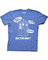 Ripple Junction Doctor Who Knock Knock Adult T-shirt