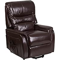 Flash Furniture HERCULES Series Brown Leather Remote Powered Lift Recliner