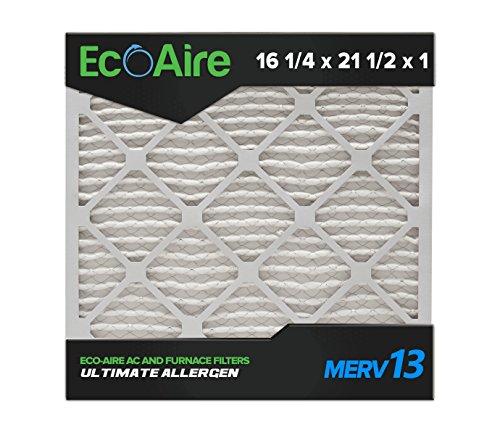 Eco-Aire 16 1/4 x 21 1/2 x 1 Premium MERV 13 Pleated Air Con