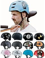 Skullcap® BMX Helm ☢ Skaterhelm ☢ Fahrradhelm ☢ Herren | Damen | Jungs & Kinderhelm