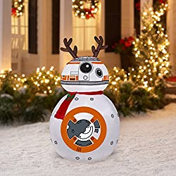 Airblown Inflatable-BB-8 w/Reindeer Ears and Scarf-MD Star...