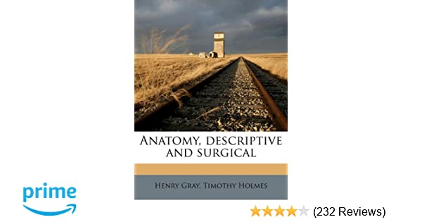 Amazon Anatomy Descriptive And Surgical 9781178002201 Henry