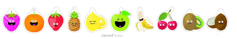 Janod 4502970 Multifrutti - Cartas perfumadas con diseño y ...