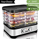 Best Dehydrators - Best Food Dehydrator Machine With 5 Trays Temperature Review