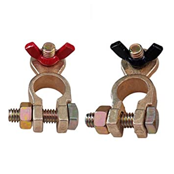 1 PAIR 12V Pure copper plus thick Car Battery Terminal Clamp