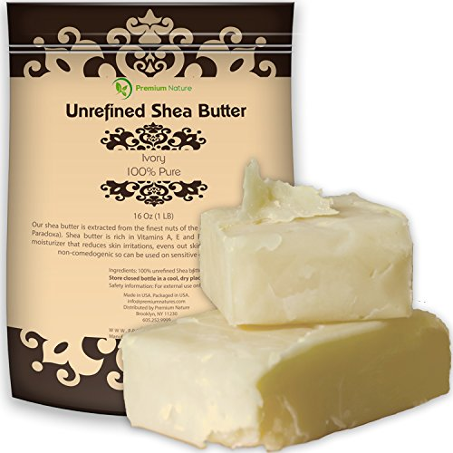 Organic Unrefined African Shea Butter - 16 oz Raw for Body Butters Lotions Lip Balms Strech Mark Removal Eczema Treatment - Best Pure Moisturizer Skin & Hair Care - for DIY Premium Nature (3 Yellow Love Roses)