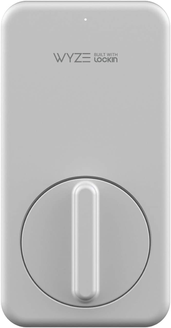Wyze Lock WiFi and Bluetooth Enabled Smart Door Lock, Wireless & Keyless Door Entry, Hands-Free Voice Control, Home Security Compatible with Amazon Alexa, Fits on Most Deadbolts, Includes Wyze Gateway