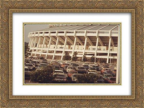Fulton Stadium Atlanta (Atlanta?Fulton County Stadium 2X Matted 24x20 Gold Ornate Framed Art Print from The Stadium Series)