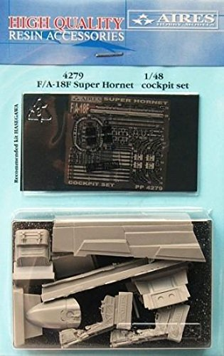 Aires 1:48 F/A-18 F Super Hornet Cockpit Set for Hasegawa Kit - Resin #4279