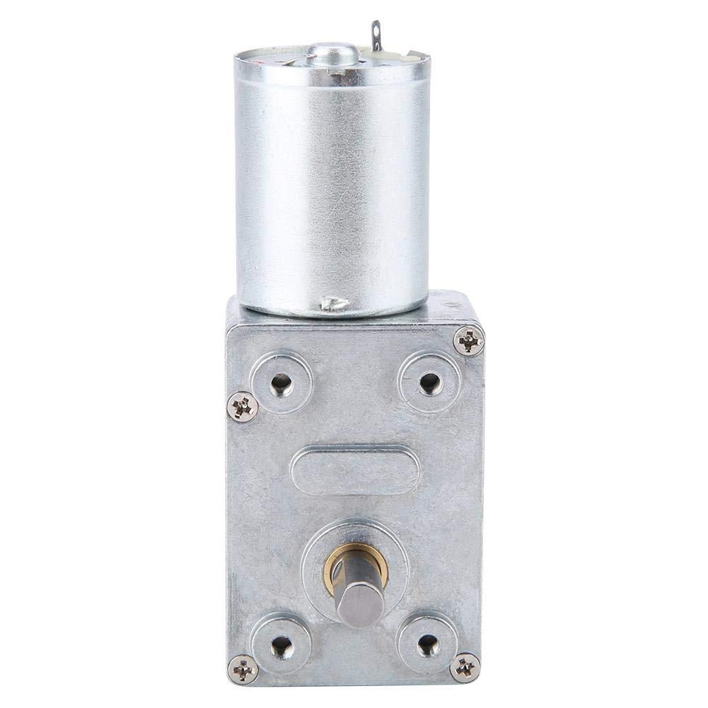 Motor de engranaje de reducción de velocidad de CC de 12 V Motor eléctrico de caja de cambios de alto torque Motor de reemplazo de engranaje helicoidal reversible (10 RPM)