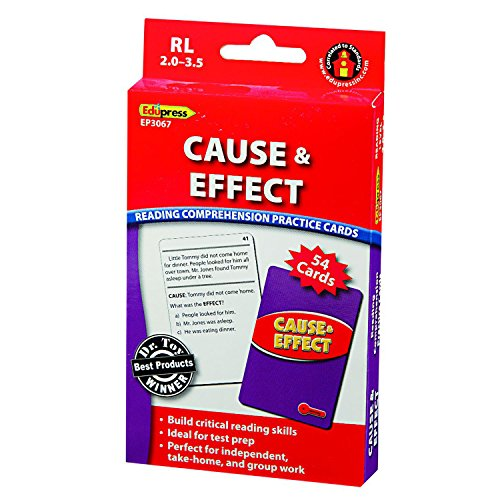 Edupress  Ep 3067  Reading Comprehension Practice Cards  Cause   Effect  Red Level