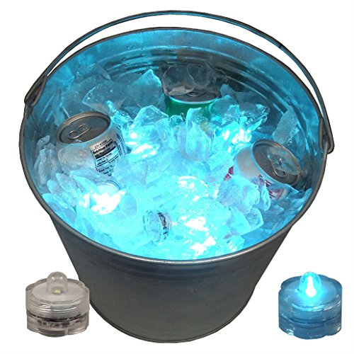 12 LED Ice Bucket Submersible Lights Glow Celebration New Year's Eve Party Teal by Unknown (Image #1)