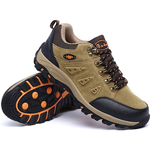 KemeKiss Men Shoes Boots Outdoor Hiking Unisex Khaki rrnFU4q