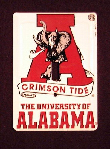 Alabama Light Switch Cover (University of Alabama Crimson Tide Light Switch Covers (single) Plates LS10067)