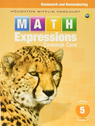 Math Expressions: Homework & Remembering, Volume 2 Grade 5