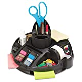Post-it : Rotary Self-Stick Notes Dispenser, Plastic, Rotary, 9 1/2 dia x 5 1/2h, Black -:- Sold as 2 Packs of - 1 - / - Total of 2 Each