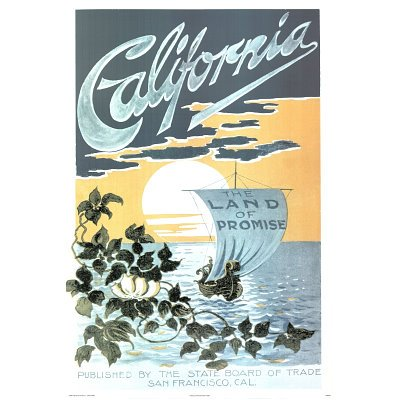 California Land of Promise Vintage Ad Art Print Poster