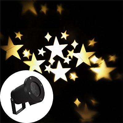 Warm white, AU plug : Trecaan Outdoor Christmas Laser Projector Light Sky Star Led Spotlight Landscape Laser light Wedding Party DJ Diso Stage Light