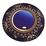 Auwer New Round Unique 3D Gem Printed Beach Cover-Up Throw Tapestry Wall Art Hanging Pool Home Shower Towel Blanket Table Cloth Tablecover Yoga Mat Picnic Mat Bedspread Collage Dorm (Blue)