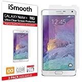 Samsung Galaxy Note 4 Screen Protector Made with Ultra Clear PET Plastic Gives You Protection From Scratches For the Glass Screen on Your Phone, 3-pack
