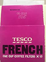 Tesco French One Cup Coffee With 10 Filters Amazoncouk